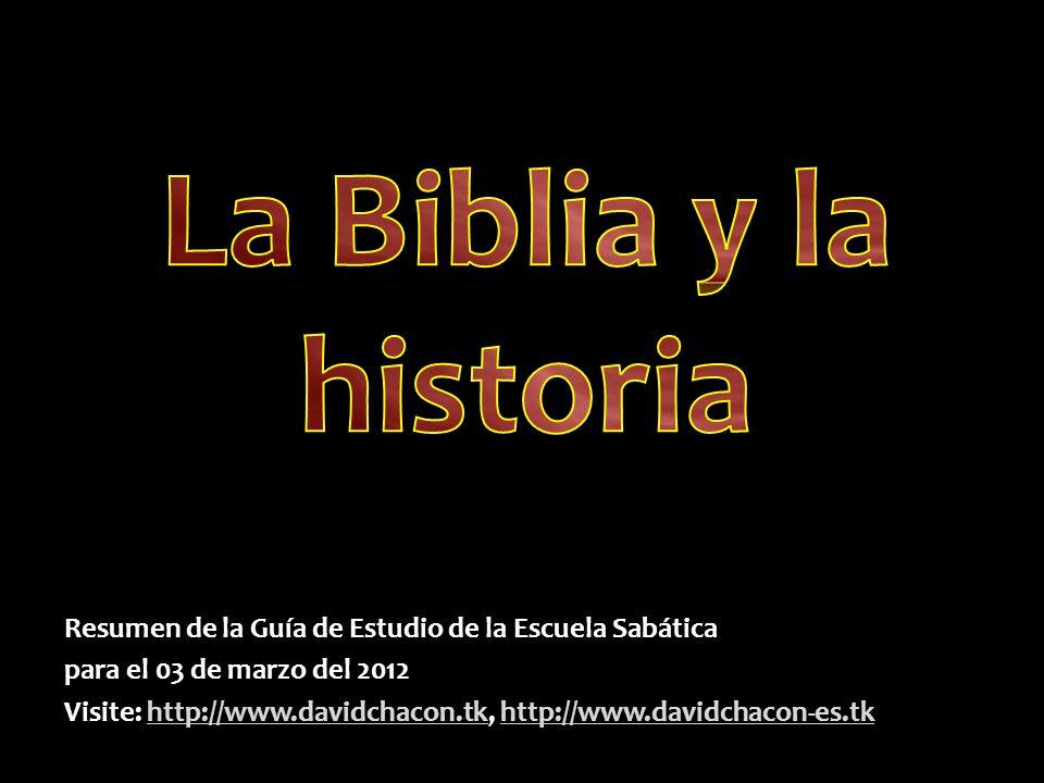 Resumen de la Guía de Estudio de la Escuela Sabática para el 03 de marzo del 2012 Visite: http://www.davidchacon.tk, http://www.davidchacon-es.tk http://www.davidchacon.tkhttp://www.davidchacon-es.tkhttp://www.davidchacon.tkhttp://www.davidchacon-es.tk