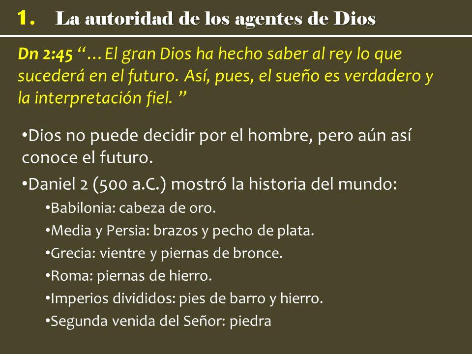 La autoridad de los agentes de Dios 1.