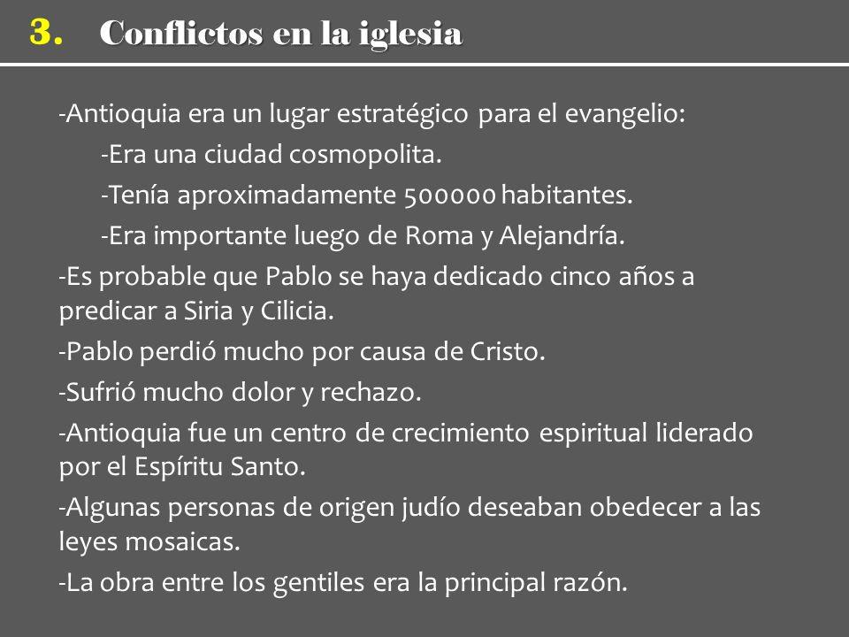 Conflictos en la iglesia 3.
