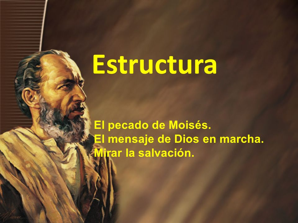 Estructura El pecado de Moisés. El mensaje de Dios en marcha. Mirar la salvación.