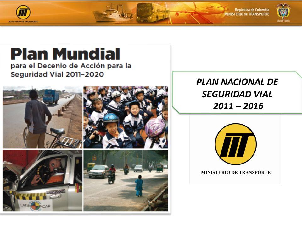 PLAN NACIONAL DE SEGURIDAD VIAL 2011 – 2016 PLAN NACIONAL DE SEGURIDAD VIAL 2011 – 2016