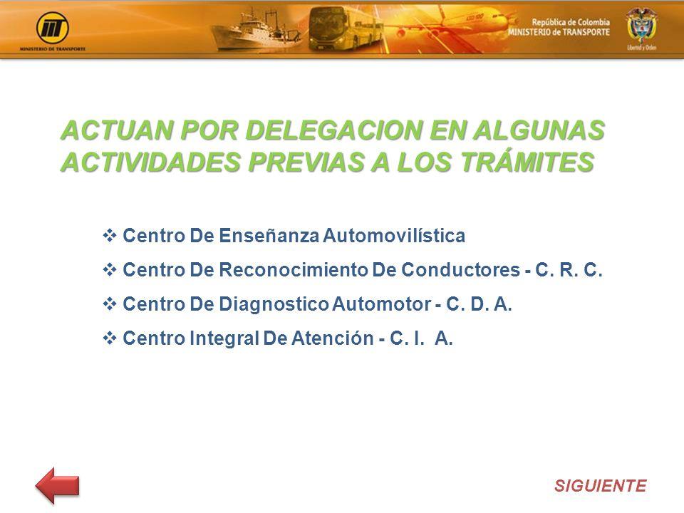 Centro De Enseñanza Automovilística Centro De Reconocimiento De Conductores - C. R. C. Centro De Diagnostico Automotor - C. D. A. Centro Integral De A