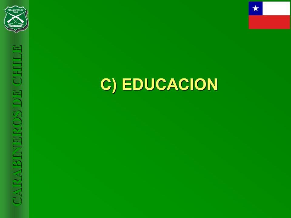 CARABINEROS DE CHILE C) EDUCACION