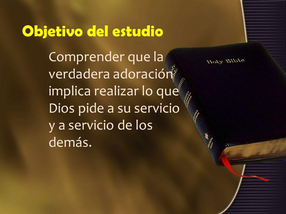 Estructura de estudio 1.La presencia de Dios. 2.Adoración provechosa. 3.Vana adoración.