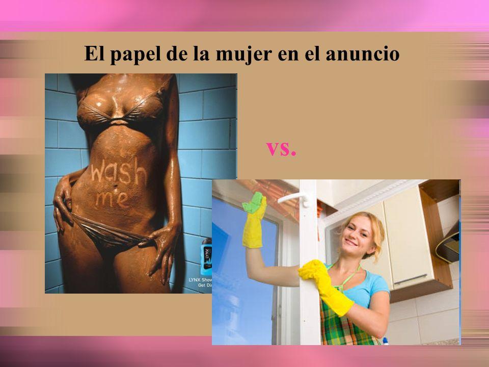 El papel de la mujer en el anuncio vs.