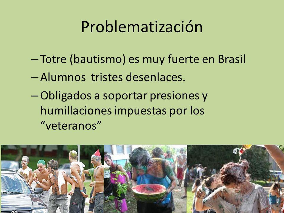 Problematización – Totre (bautismo) es muy fuerte en Brasil – Alumnos tristes desenlaces.