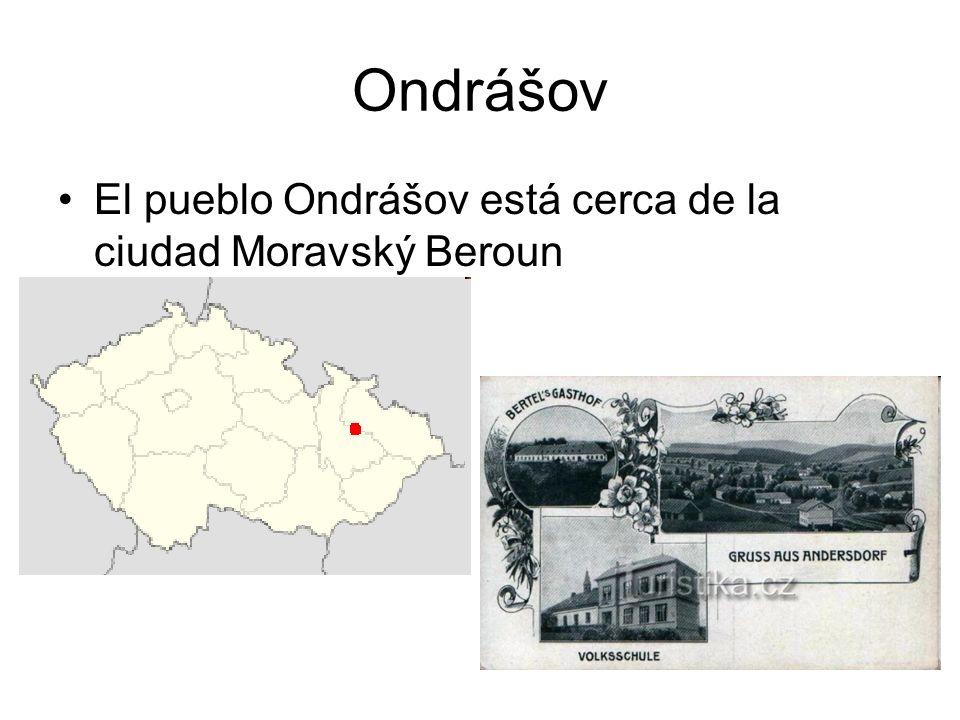 Ondrášov El pueblo Ondrášov está cerca de la ciudad Moravský Beroun