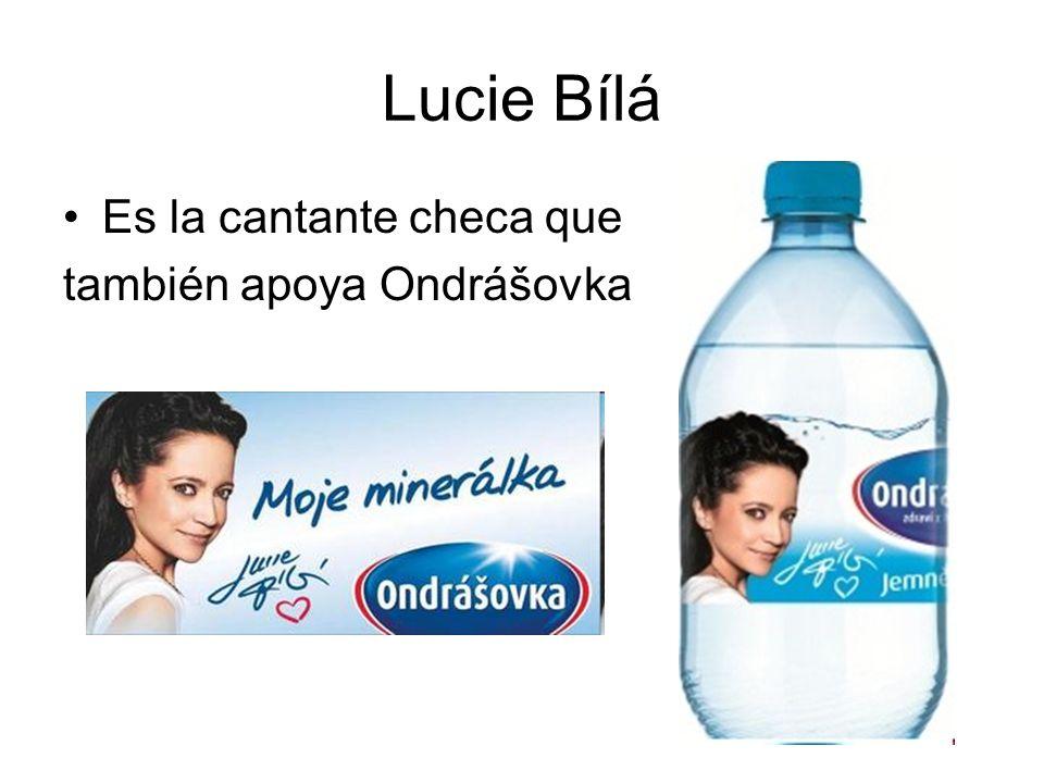Lucie Bílá Es la cantante checa que también apoya Ondrášovka