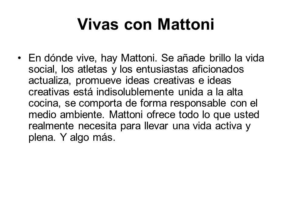 Vivas con Mattoni En dónde vive, hay Mattoni.