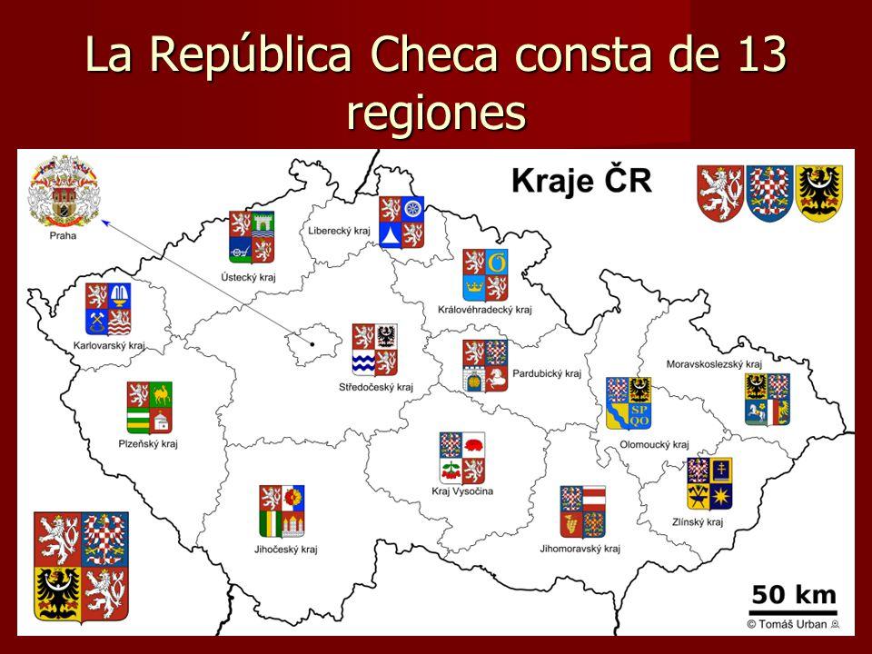 La República Checa consta de 13 regiones