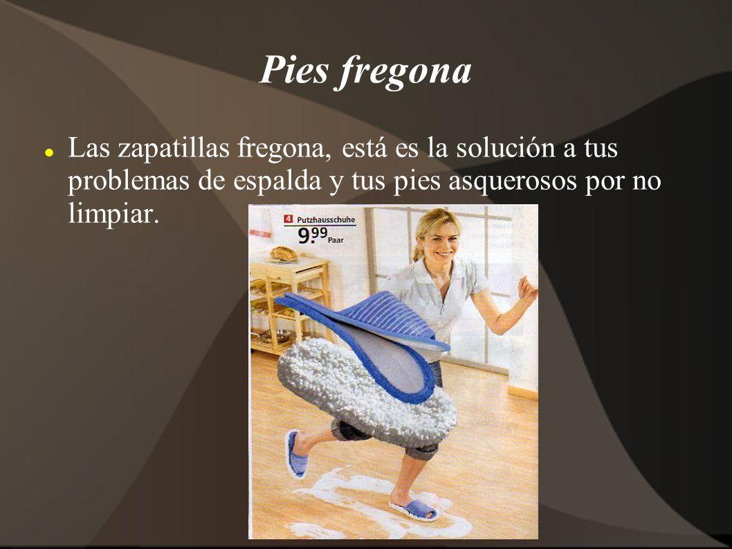 Pies fregona Las zapatillas fregona, está es la solución a tus problemas de espalda y tus pies asquerosos por no limpiar.