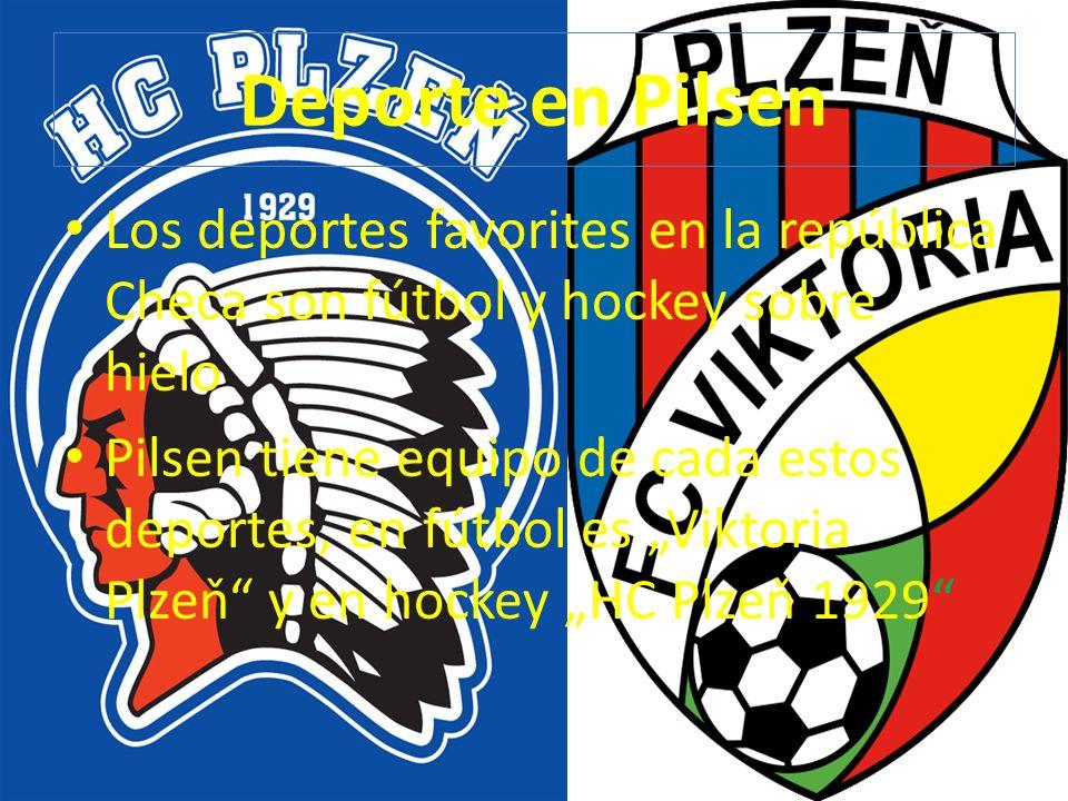 Deporte en Pilsen Los deportes favorites en la república Checa son fútbol y hockey sobre hielo Pilsen tiene equipo de cada estos deportes, en fútbol e