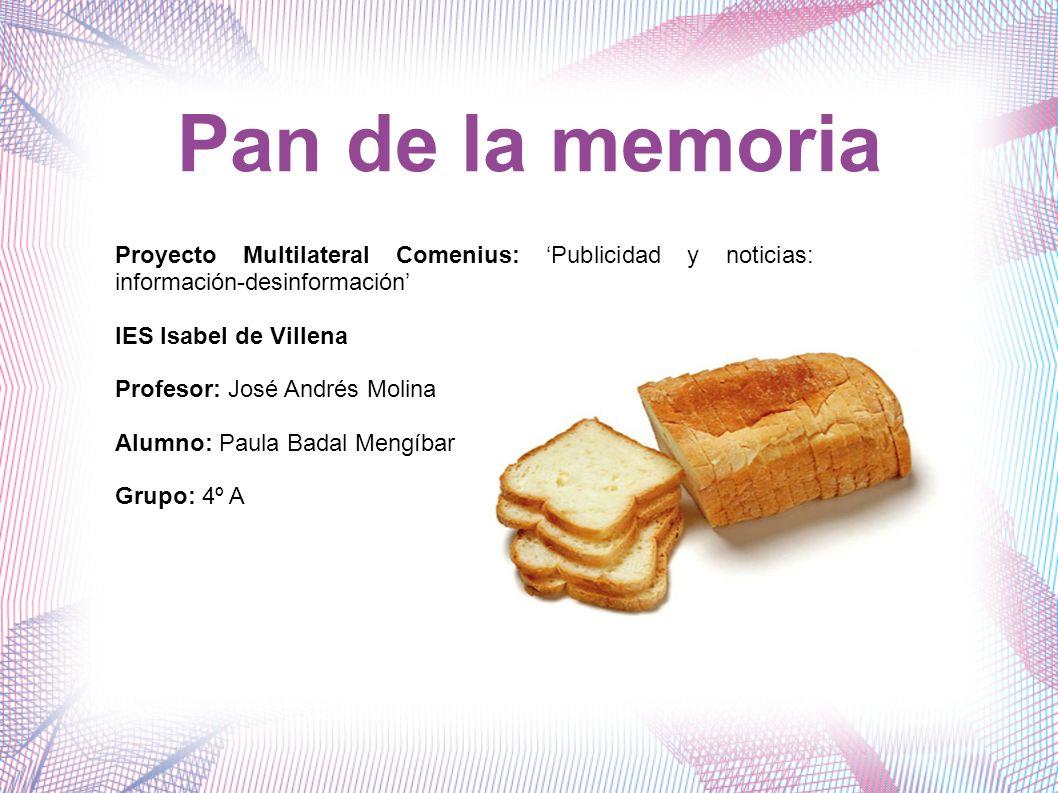 Que es.Es un tipo de pan que permite recordar textos, frases...