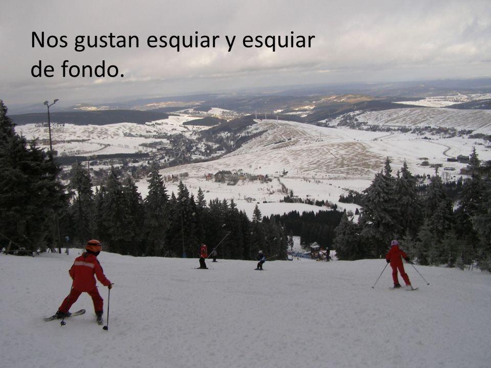 Nos gustan esquiar y esquiar de fondo.