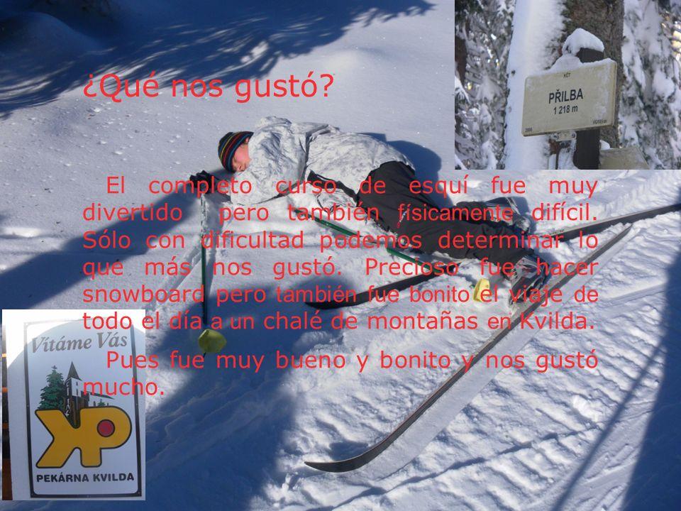 ¿Qué nos gustó? El completo curso de esquí fue muy divertido pero también físicamente difícil. Sólo con dificultad podemos determinar lo que más nos g