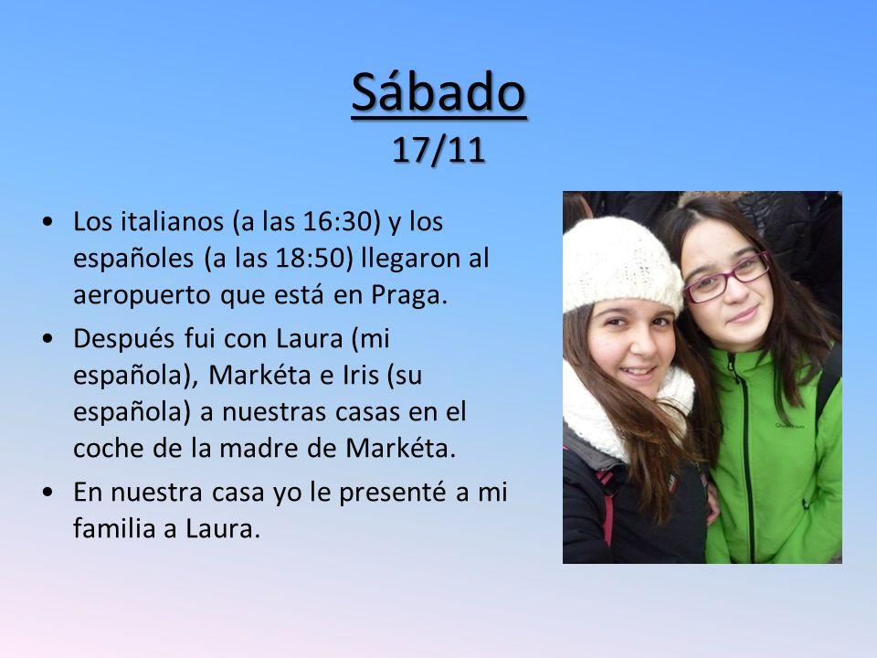 Sábado 17/11 Los italianos (a las 16:30) y los españoles (a las 18:50) llegaron al aeropuerto que está en Praga.