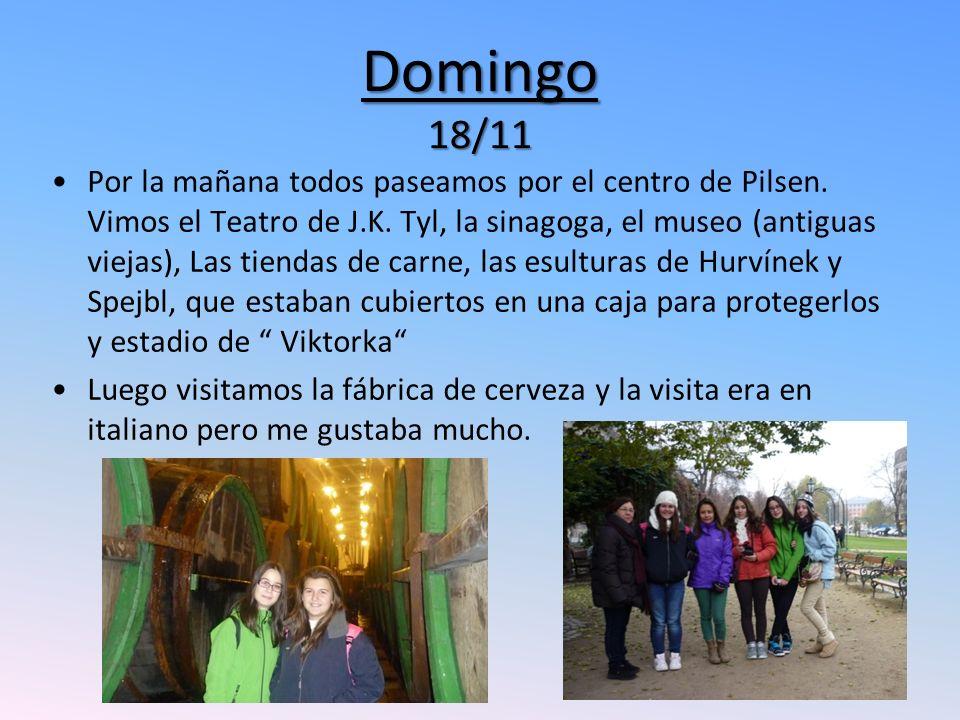 Domingo 18/11 Por la mañana todos paseamos por el centro de Pilsen.