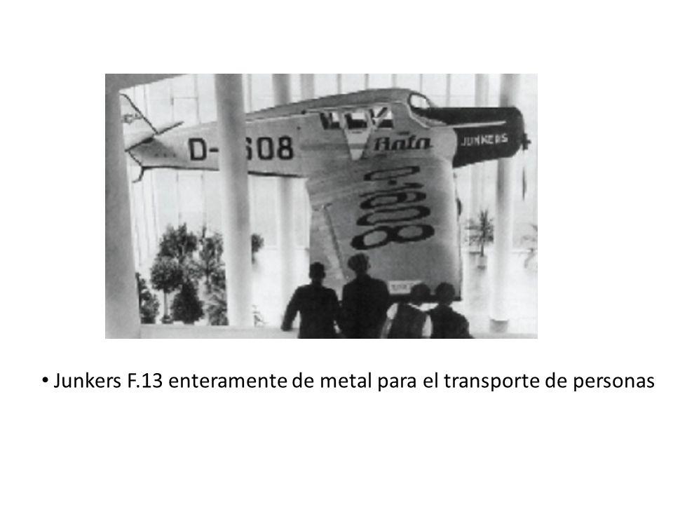 Junkers F.13 enteramente de metal para el transporte de personas