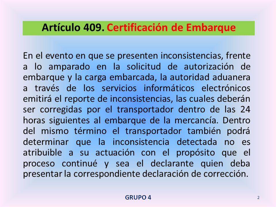 Se podrá autorizar este régimen cuando se cumplan los siguientes requisitos: Artículo 423.