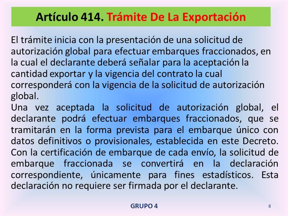 Es el régimen de exportación que regula la salida definitiva del territorio aduanero nacional, de mercancías que estuvieron sometidas a los regímenes de depósito aduanero, admisión temporal o al régimen de transformación bajo control aduanero.