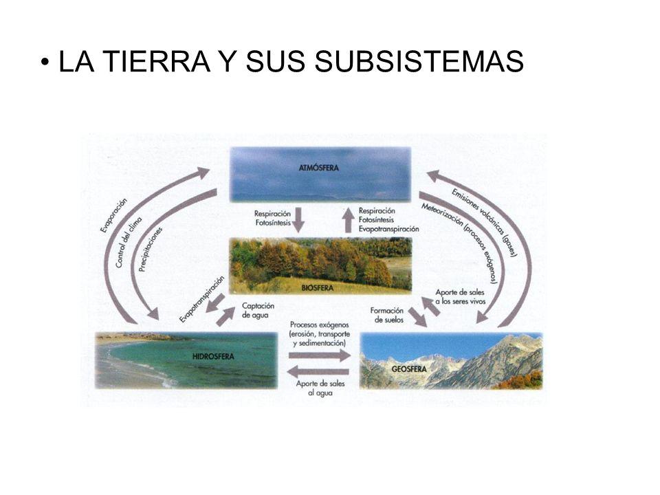 LA TIERRA Y SUS SUBSISTEMAS