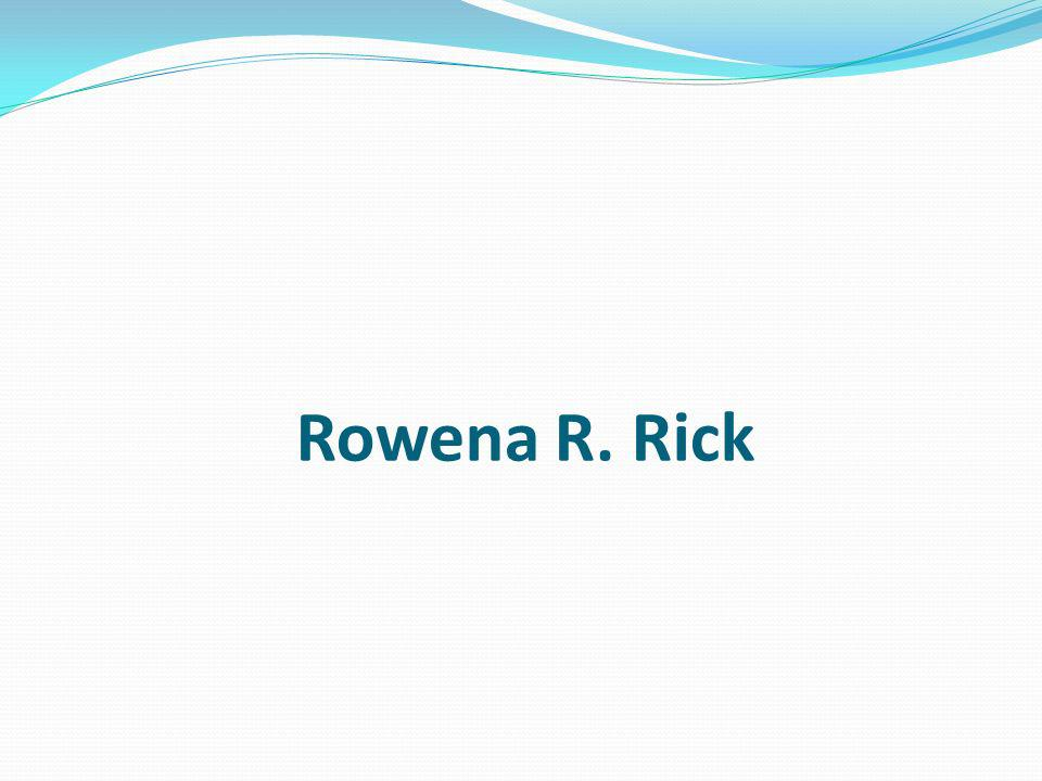 Rowena R. Rick