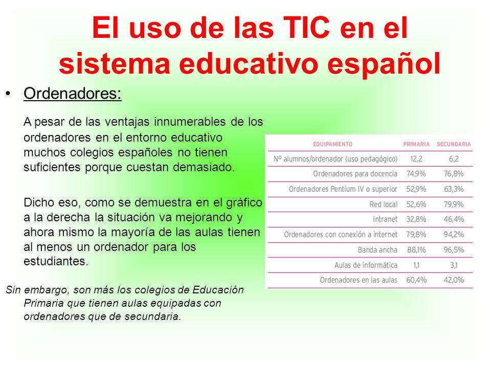 Ordenadores: A pesar de las ventajas innumerables de los ordenadores en el entorno educativo muchos colegios españoles no tienen suficientes porque cu