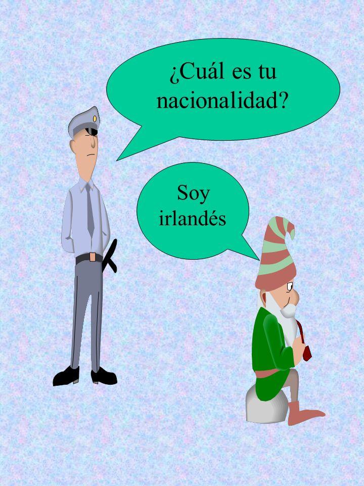 ¿Cuál es tu nacionalidad? Soy mejicano