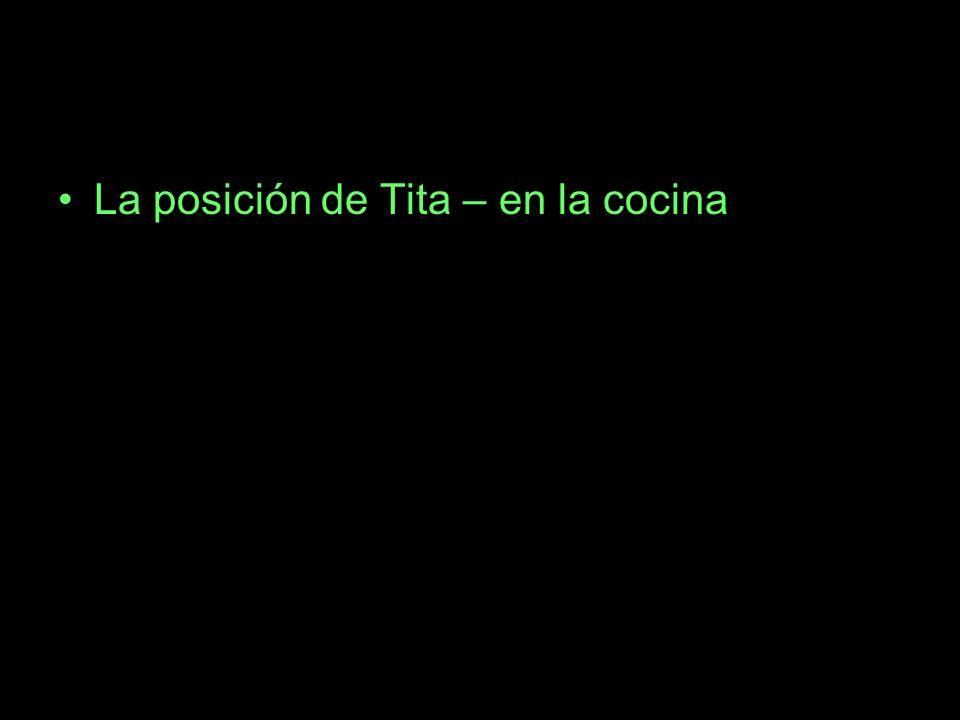 La posición de Tita – en la cocina