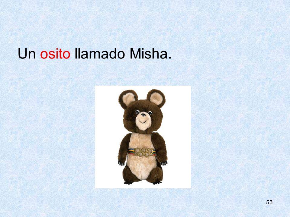 53 Un osito llamado Misha.