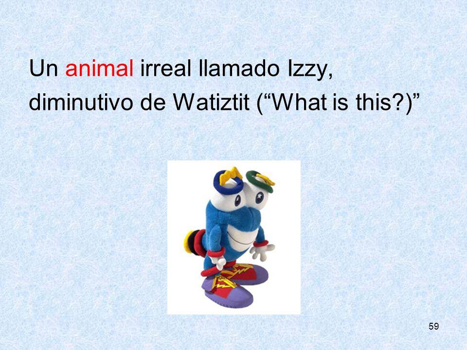 59 Un animal irreal llamado Izzy, diminutivo de Watiztit (What is this?)