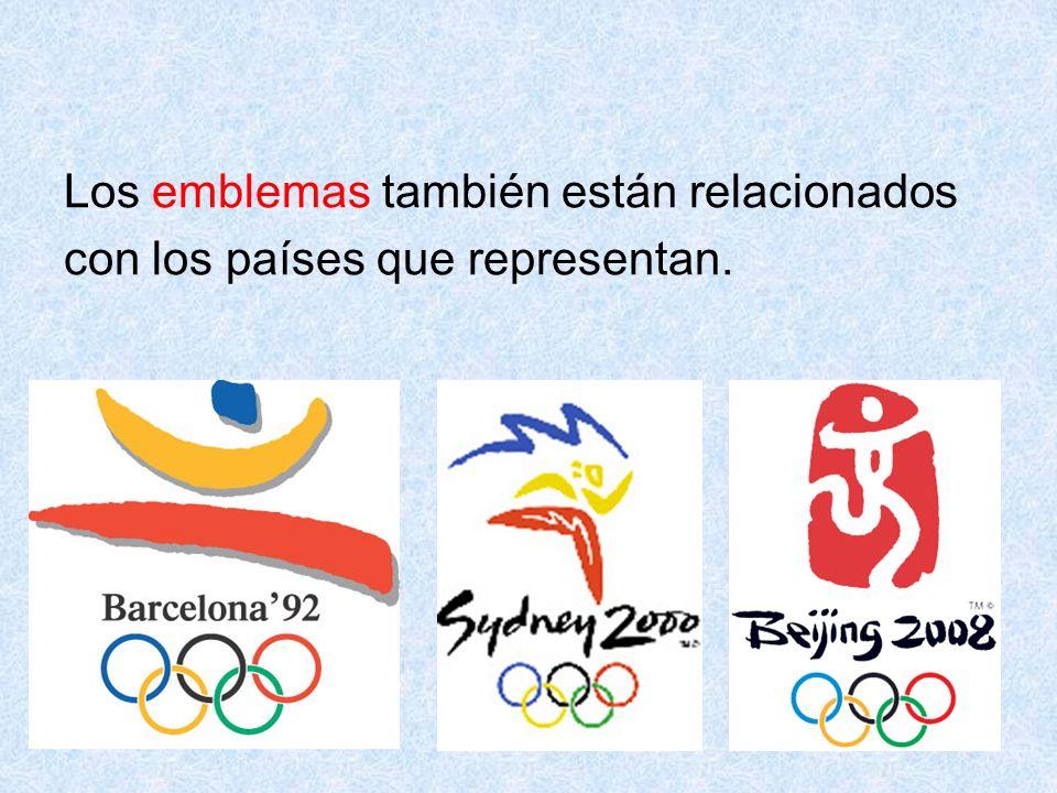 64 Los emblemas también están relacionados con los países que representan.