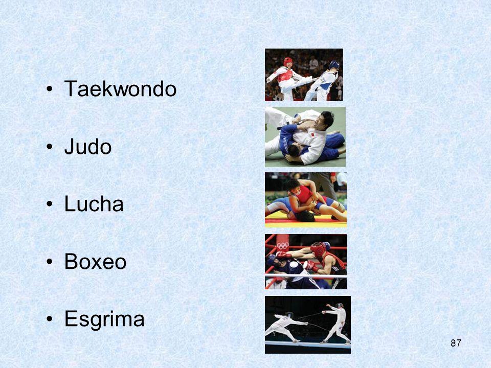 87 Taekwondo Judo Lucha Boxeo Esgrima