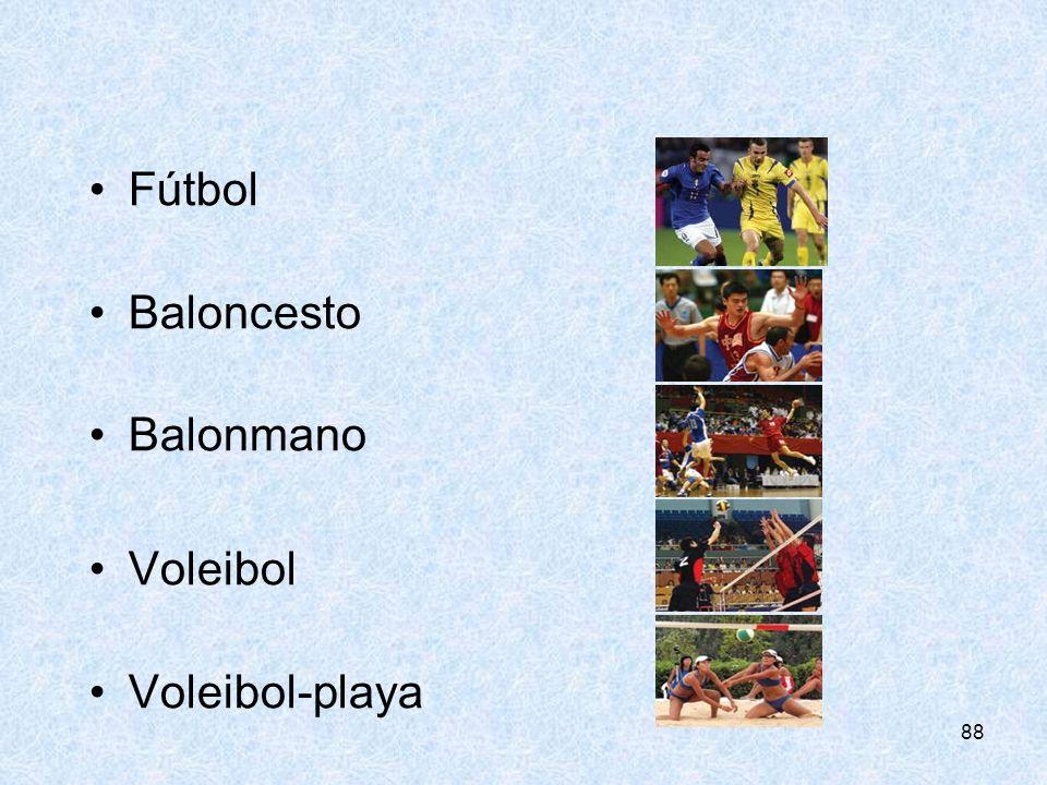 88 Fútbol Baloncesto Balonmano Voleibol Voleibol-playa