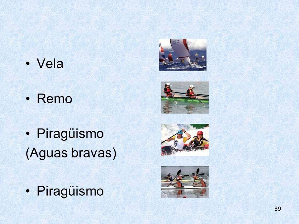 89 Vela Remo Piragüismo (Aguas bravas) Piragüismo