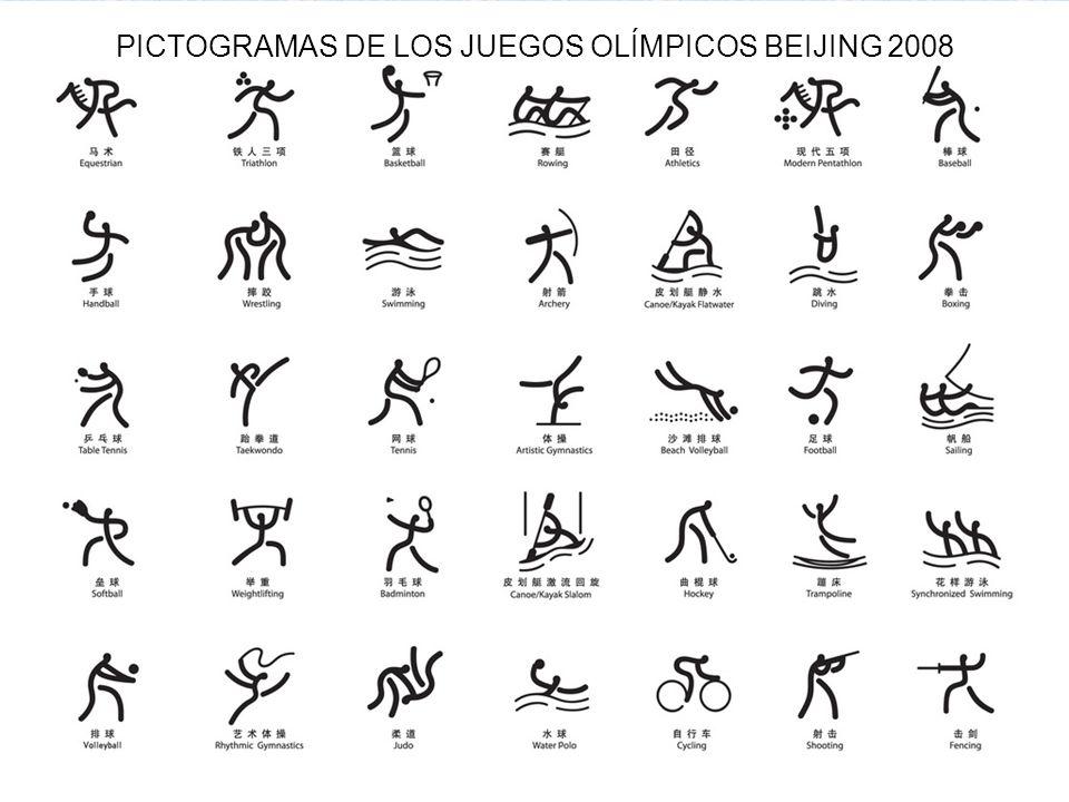 94 PICTOGRAMAS DE LOS JUEGOS OLÍMPICOS BEIJING 2008