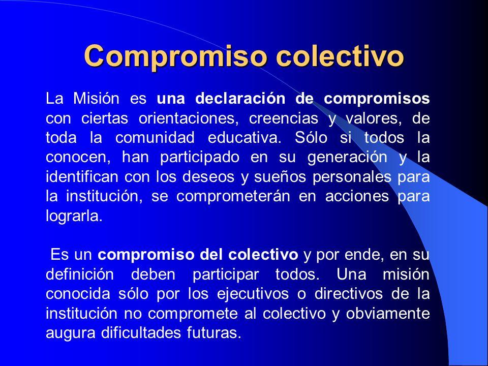 Identidad La MISIÓN es la razón misma de la existencia del Liceo, es la que provee de sentido, la que lo distingue de los demás y le proporciona identidad.