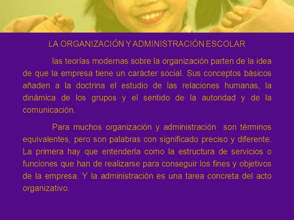 La organización es un proceso que puede estructurarse así: Fines y objetivos Estructura de funciones Administración Coordinación