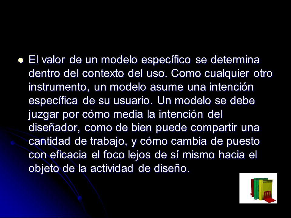 El valor de un modelo específico se determina dentro del contexto del uso. Como cualquier otro instrumento, un modelo asume una intención específica d
