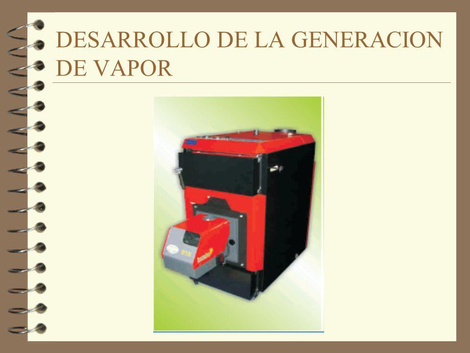 CALDEROS INDUSTRIALES 4 Son equipos diseñados para transferir calor producido por combustión, mediante electricidad, o un fluido determinado 4 Se emplean para producir agua caliente, vapor saturado, vapor sobrecalentado