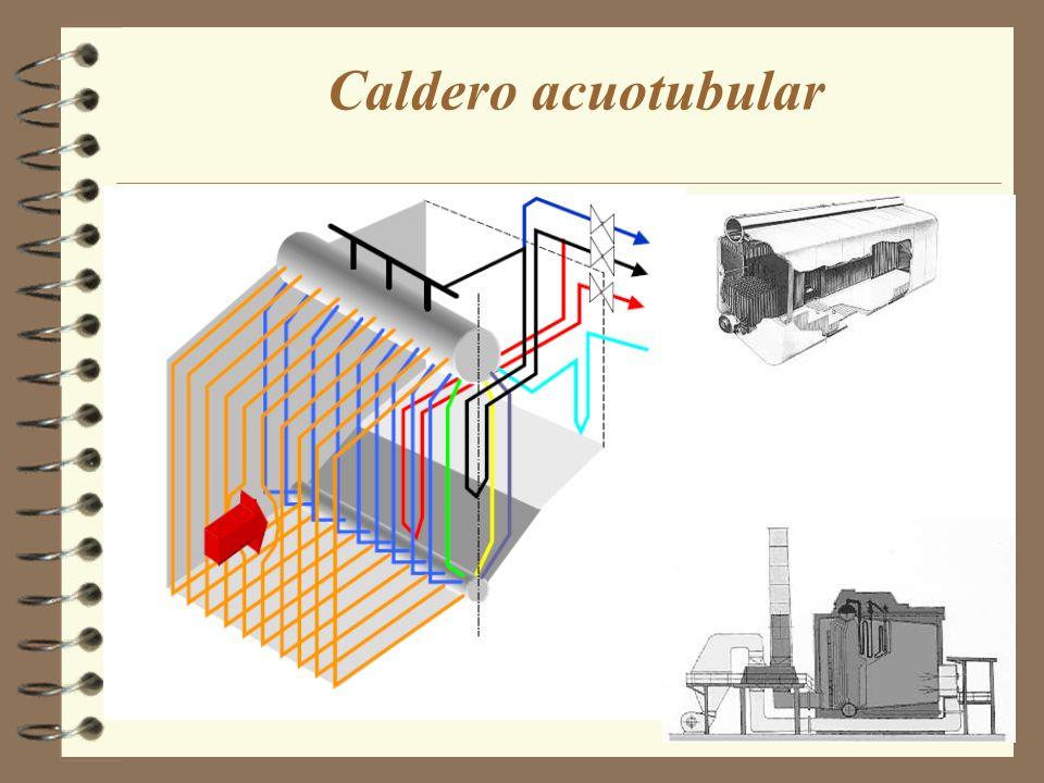 Caldero acuatubular A los efectos de fijar conceptos, se puede ver una vista general del armado de una caldera de 120 T/h, de tipo convencional,