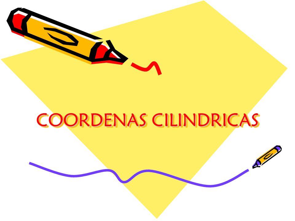 COORDENAS CILINDRICAS
