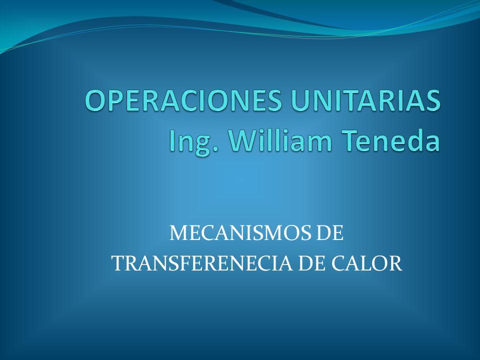 MECANISMOS DE TRANSFERENCIA DE CALOR La ciencia que trata de la determinación de las velocidades de esas transferencias de energía es la transferencia de calor.