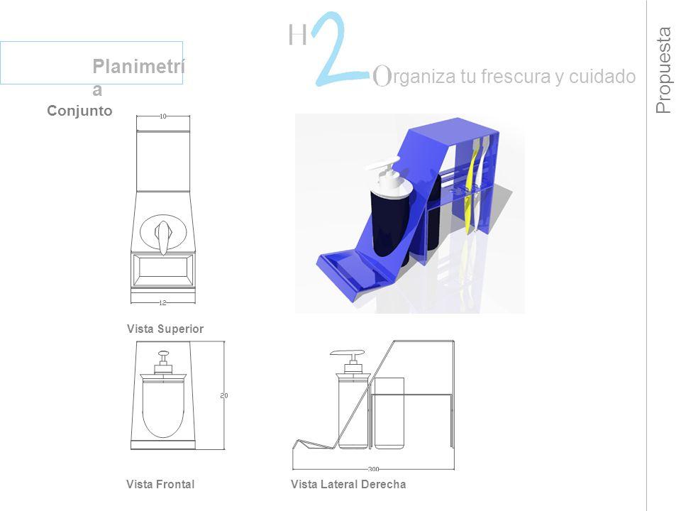 Propuesta Planimetrí a rganiza tu frescura y cuidado Conjunto Vista Superior Vista FrontalVista Lateral Derecha