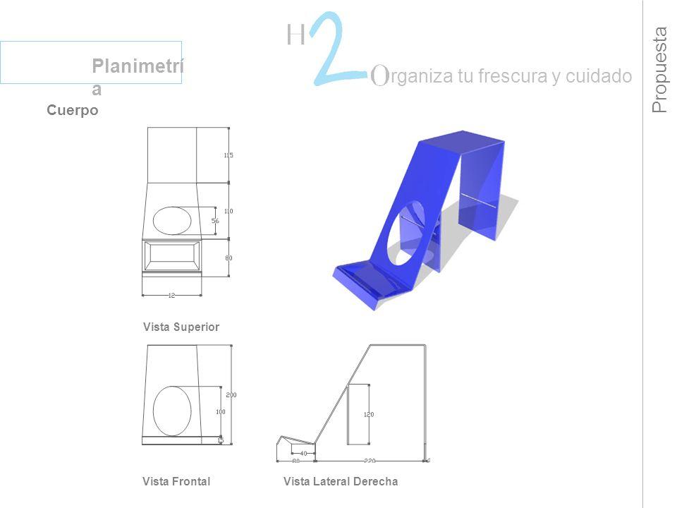 Propuesta Planimetrí a rganiza tu frescura y cuidado Cuerpo Vista Superior Vista FrontalVista Lateral Derecha