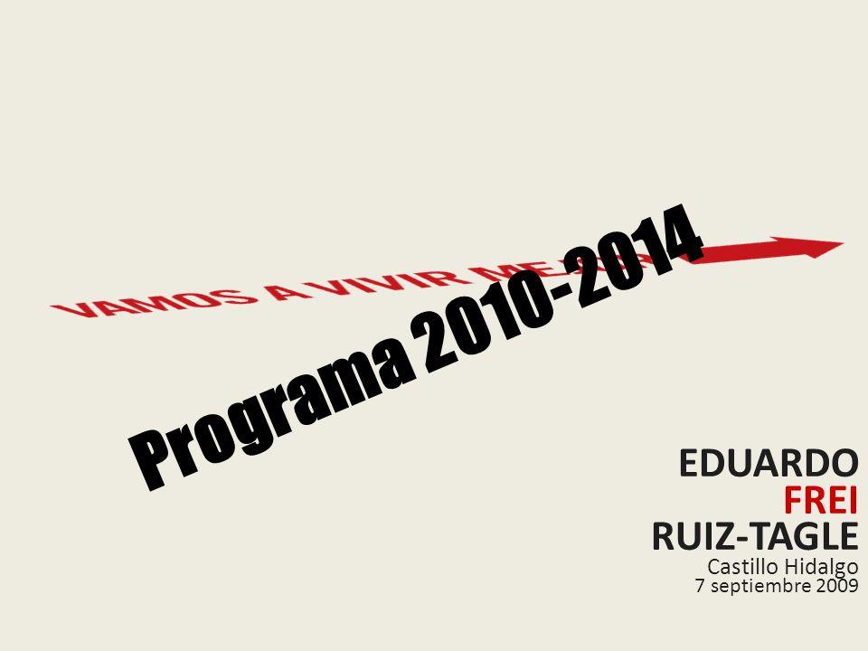 EDUARDO FREI RUIZ-TAGLE Castillo Hidalgo 7 septiembre 2009 Programa 2010-2014