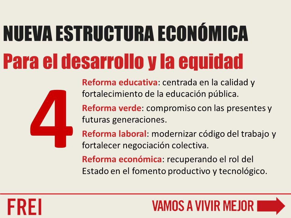 Reforma educativa: centrada en la calidad y fortalecimiento de la educación pública.