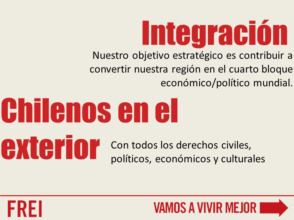 Nuestro objetivo estratégico es contribuir a convertir nuestra región en el cuarto bloque económico/político mundial.