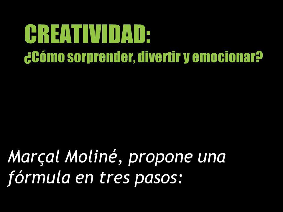 CREATIVIDAD: ¿Cómo sorprender, divertir y emocionar? Marçal Moliné, propone una fórmula en tres pasos:
