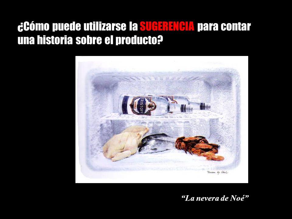 ¿Cómo puede utilizarse la SUGERENCIA para contar una historia sobre el producto? La nevera de Noé